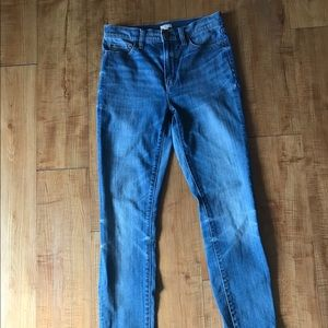 J.Crew high rise skinny jeans